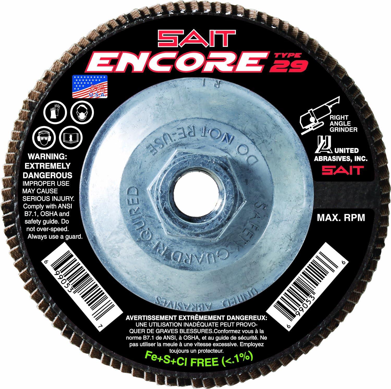United Abrasives- SAIT 79115 Encore Type Max 81% OFF 29 5 half 2 Flap Disc 4-1 X