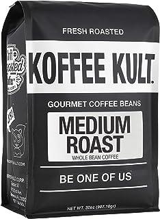 Koffee Kult - Medium Roast Coffee Beans Artisan Small Batch Direct Ship From Roaster, 32oz