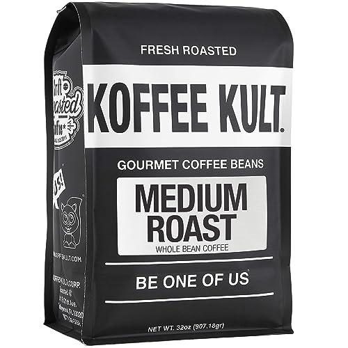Koffee Kult - Medium Roast Coffee Beans, Whole Bean Coffee, 32oz