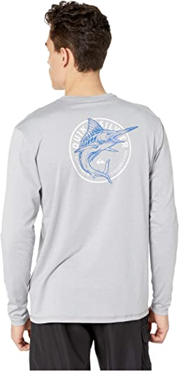 Watermarked Long Sleeve Surf Tee Rashguard
