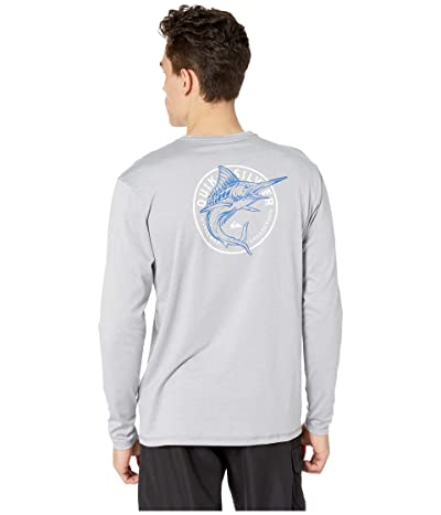 Quiksilver Waterman Watermarked Long Sleeve Surf Tee Rashguard (Sleet) Men