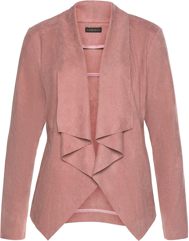 LASCANA Suede Look Jacket, Mauve, Modern Jackets women Quality Ladies Cardigans leather jackets