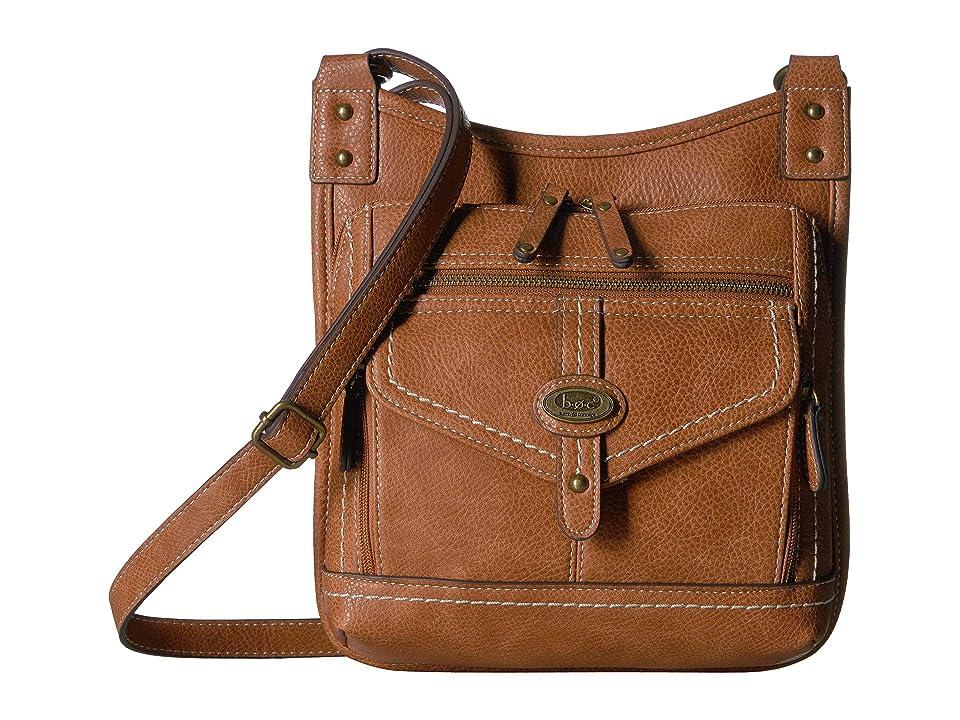 b.o.c. Cobble Hill Crossbody (Saddle) Cross Body Handbags, Brown