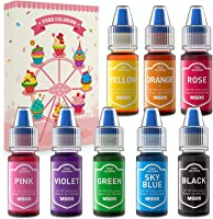 Colorante Alimentare Liquido 8 Colori Coloranti Alimentari Concentrato per Cuocere Decorare Dolci Panna Torte Uova