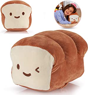 HAKOL Bread Plush Pillow Cushion Doll, 10 Inch – Cotton Food Decoration for Home Interior & Kids Room – Soft Kawaii Plushy Toy for Children – Great Gift Idea