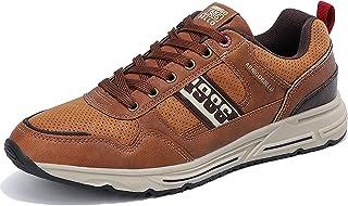 TARELO Men's Fashion Sneakers Casual Shoes PU Leather...