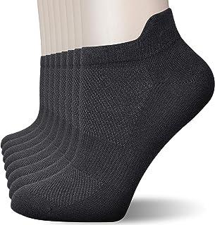 Ougenni, 8 Pares Calcetines Cortos Mujer Hombre Respirable Calcetines tobilleros Algodón Antideslizantes Cortos Calcetin Calcetines Running de Corte Bajo de Algodón Hombres y Mujeres Unisex