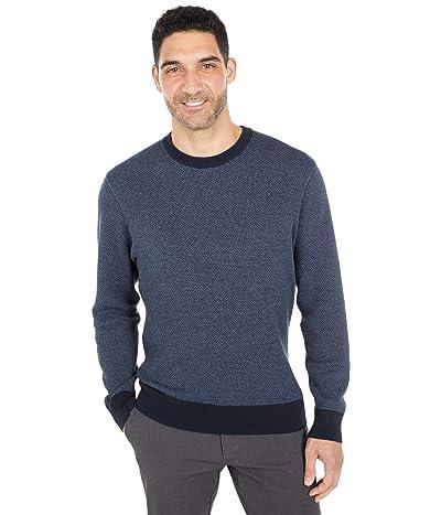 Dockers Crew Neck All Over Texture Stitch Sweater (Dockers Navy Smoke Honeycomb) Men