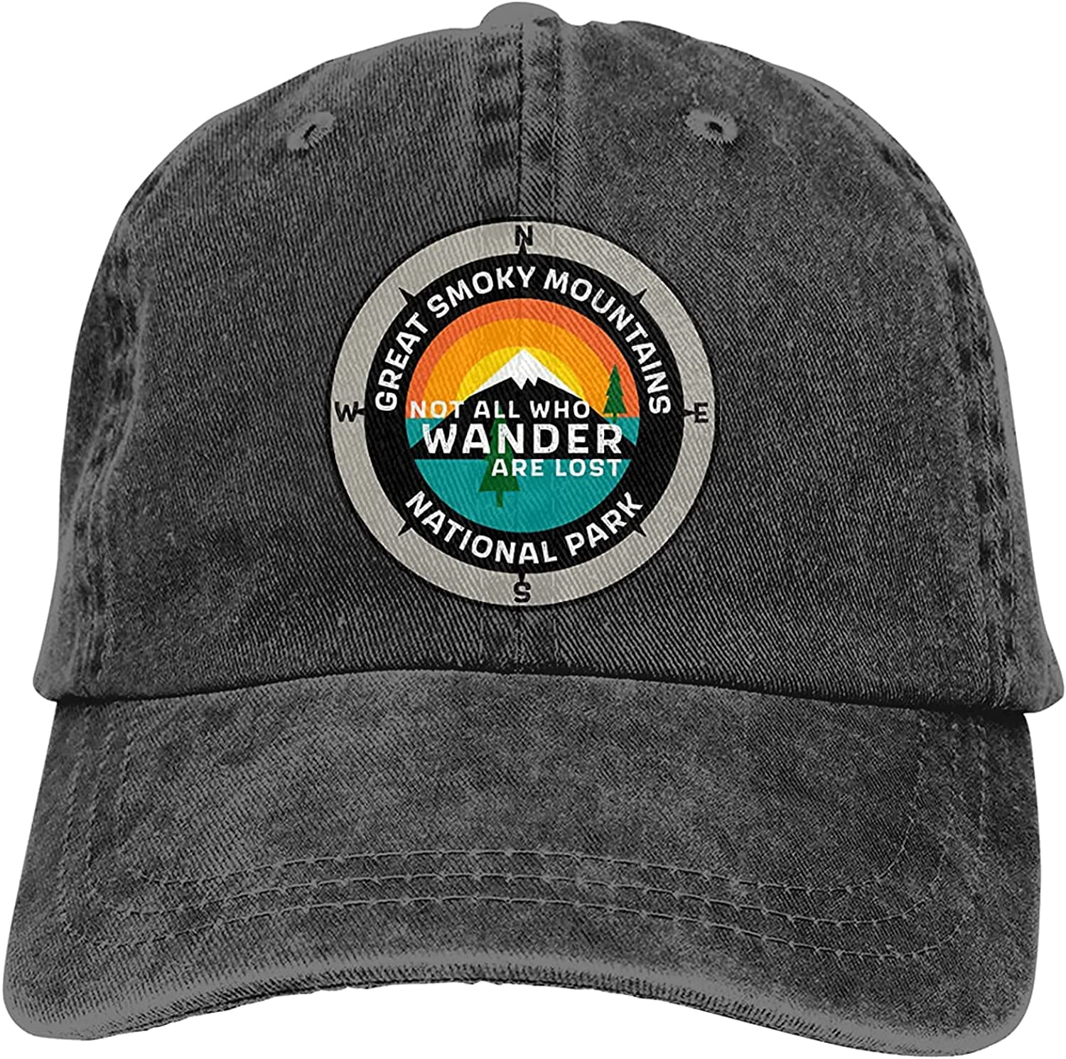 Great Smoky sold out Mountains favorite National Park Washable Cap Sports Baseball