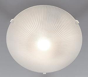Trango Diseño Cristal de techo lámpara de baño (con casquillo E27passen para todos los LED Bombilla directamente 230V
