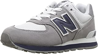 New Balance Boys 574v1 Lace-Up Sneaker, Grey/Navy, 2 M US Toddler (1-4 Years)