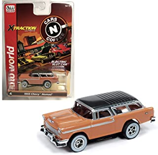 Auto World Xtraction 1955 Chevy Nomad (Tan) HO Scale Slot Car