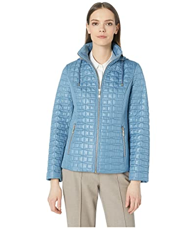 Kate Spade New York Quilted Jacket (Copen Blue) Women