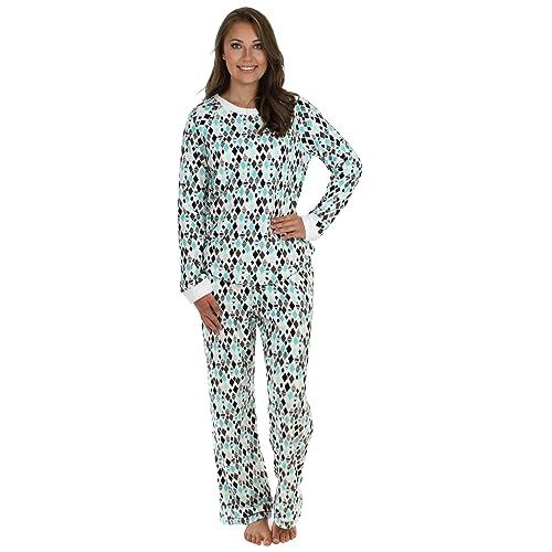 b166b82d6c PajamaMania Women s Sleepwear Fleece Long Sleeve Pajamas PJ Set