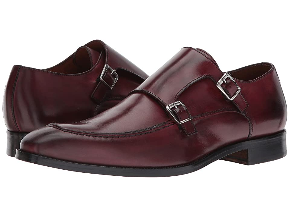 Massimo Matteo Dbl Monk Mocc Toe (Burgundy) Men