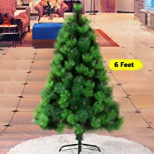 TIED RIBBONS Christmas Pine Tree 6 Feet Christmas Decoration for Home Office Restaurants