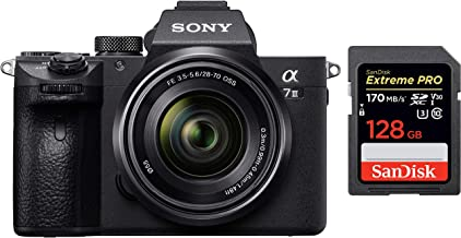 Sony Alpha ILCE-7M3K Full-Frame 24.2MP Mirrorless Digital SLR Camera with 28-70mm Zoom Lens + SanDisk 128GB Extreme Pro SD...