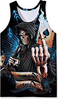 OPCOLV Men's Cool Tank Tops 3D Printed Graphic Casual Sleeveless Gym Workout Shirt