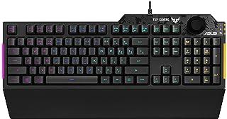 ASUS TUF Gaming K1 klawiatura gamingowa (przewodowa, przełączniki dotykowe, oświetlenie RGB, regulacja głośności, ochrona ...