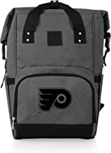PICNIC TIME Cooler NHL Philadelphia Flyers OTG Roll Top Backpack, Heathered Gray, One size