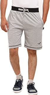 VEGO Cotton Zipper Zipper Shorts(HS-888-GREY-BLACK)