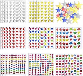 Autocollants Étoiles 5020 Count Colorés Auto-Adhésif Autocollants Étoiles pour les Enfants, 120 Feuilles