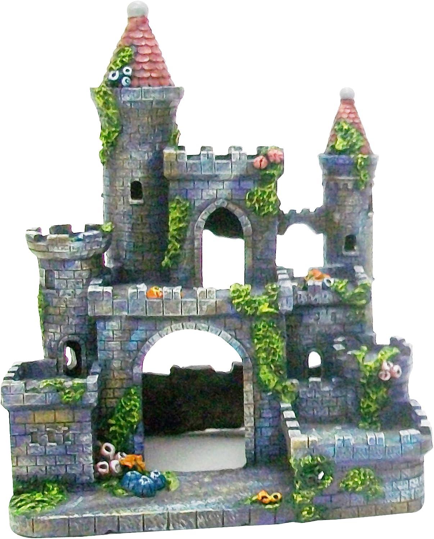 PenPlax RR693 Medieval Castle of Germany Aquarium Ornament, Small