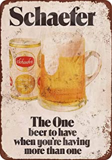 Jesiceny New Tin Sign 1975 Schaefer Beer Vintage Look Aluminum Metal Sign 8x12 Inches