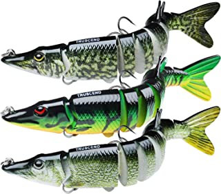TRUSCEND Fishing Lures for Bass Trout Multi Jointed Swimbaits Slow Sinking Bionic Swimming Lures Bass Freshwater Saltwater...