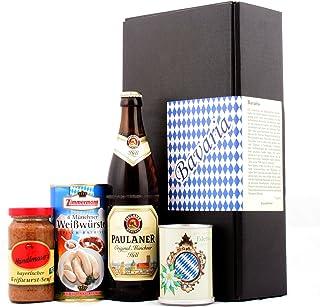 Typisch bayrisch - Bayern & München Spezialitäten Geschenk Bier, Weißwurst, Senf & Edelweiss - Das ideale Geschenk nicht nur für Männer