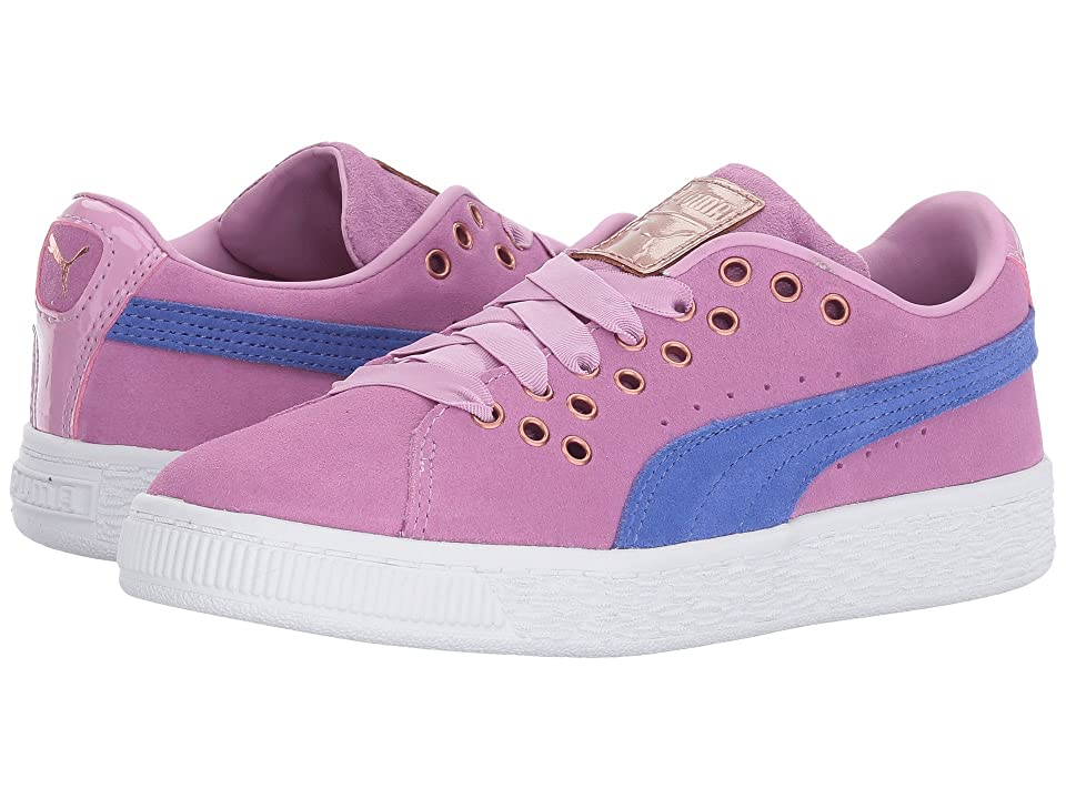 Puma Kids Suede XL Lace VR (Little Kid/Big Kid) (Smoky Grape/Baja Blue) Girls Shoes