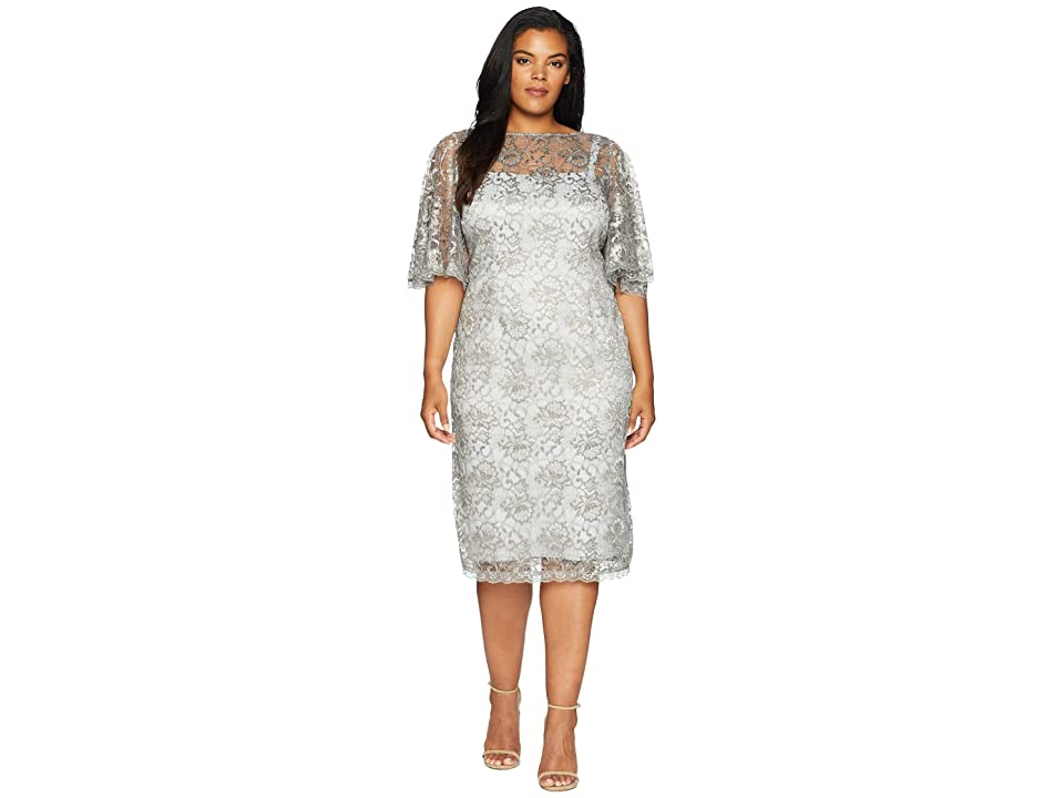 Adrianna Papell Plus Size Evening Dresses Champagne