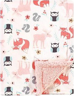 Hudson Baby Unisex Baby Plush Blanket with Sherpa Back,...