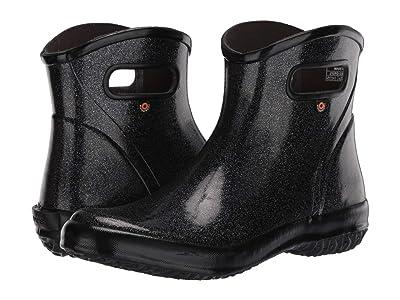 Bogs Rain Boots Ankle Glitter (Black) Women
