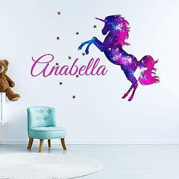 Name wall decal unicorn with name decal kids room decor unicorn decal custom name girl name decal unicorn wall decor unicorn wall art