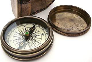 THORINSTRUMENTS (with device) Robert Frost Poem Compass-Pocket Compass w Leather Case