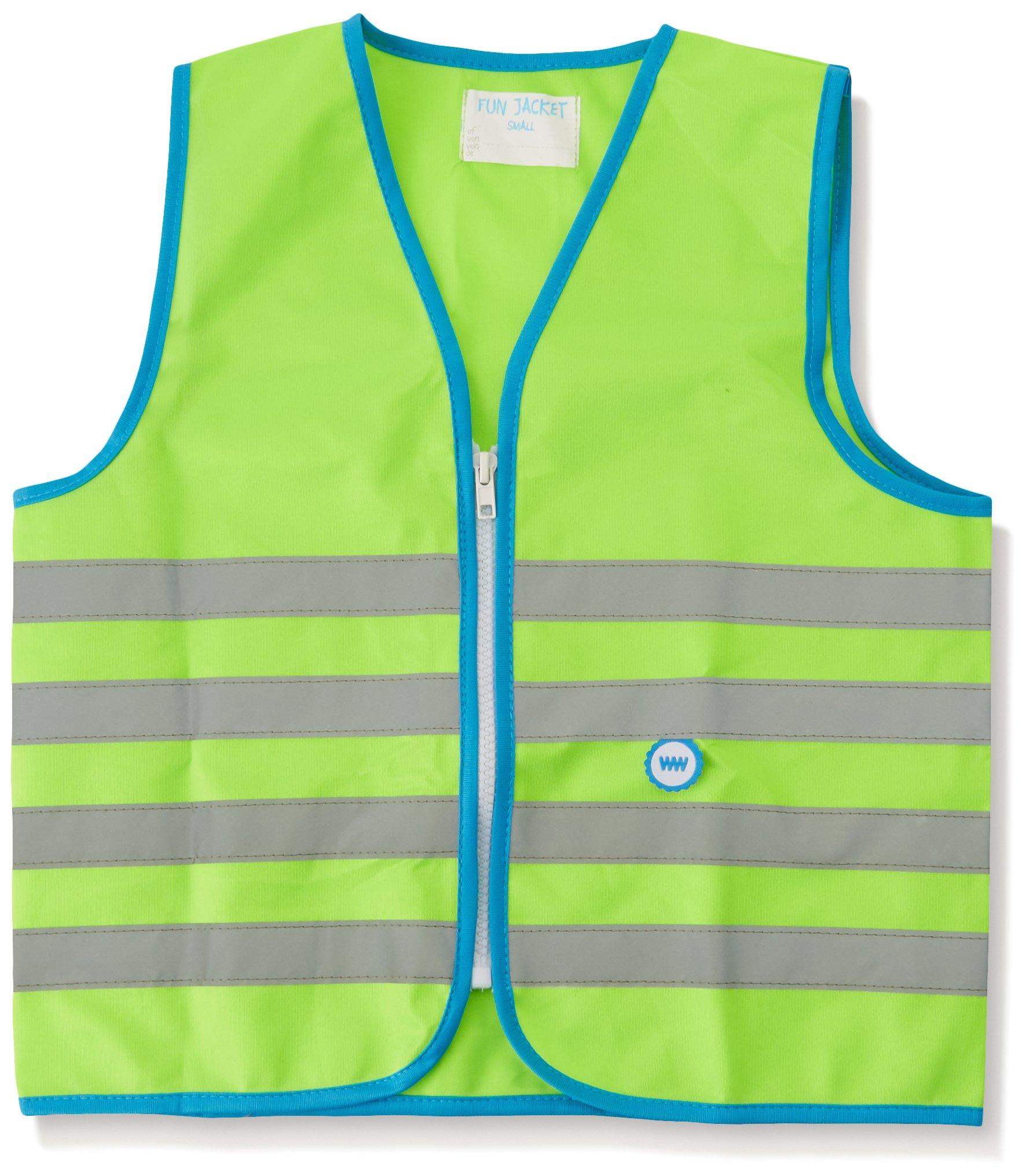 Wowow Fun-Warnweste für Kinder, grün fluoreszierend, Größe L (+10 J.)