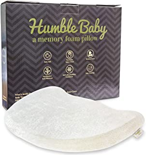 Humble Baby Head Shaping Pillow - Soft, Memory Foam, Hypoallergenic, Breathable with Organic Cotton Cover - Perfect for Newborn and Infant - Prevent Flat Head Syndrome, Plagiocephaly