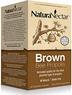 Sponsored Ad - NaturaNectar Natural Brown Bee Propolis Supplement - Premium Brazilian Propolis- Respiratory Health & Immun...