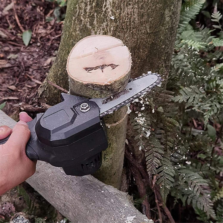 Sierra de cadena poda for la madera de cortar la rama de u Mini motosierra el/éctrica a 24 V de la bater/ía Mini motosierra motosierra 500 W bater/ía el/éctrica por 4 pulgadas con una bater/ía recargable