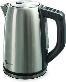 Capresso 278.05 H2O Steel Plus Water Kettle, 57 oz, Black