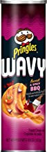 Pringles Wavy, Potato Crisps Chips, Sweet and Spicy BBQ, 4.8oz Can
