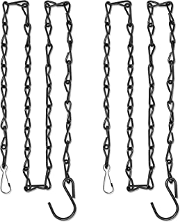 GrayBunny GB-6818B Hanging Chain, 35 Inch, Black, 2-Pack, For Bird Feeders, Planters, Fixtures, Lanterns, Suet Baskets, Wind Chimes and More! Outdoor / Indoor Use