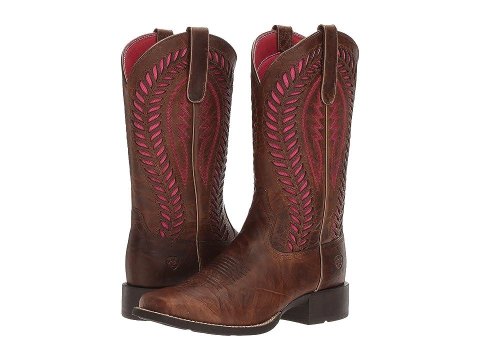Ariat Quickdraw Venttek (Barn Brown) Cowboy Boots