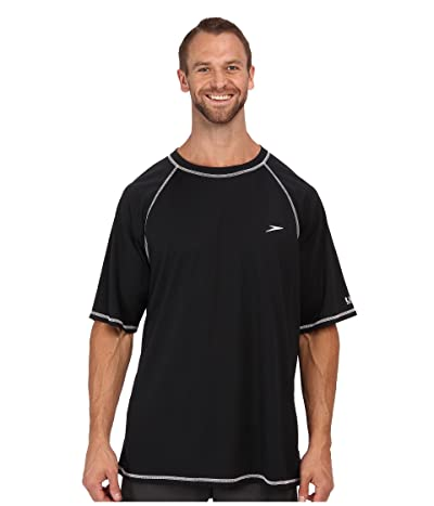 Speedo Easy S/S Swim Tee (Big) (Black) Men