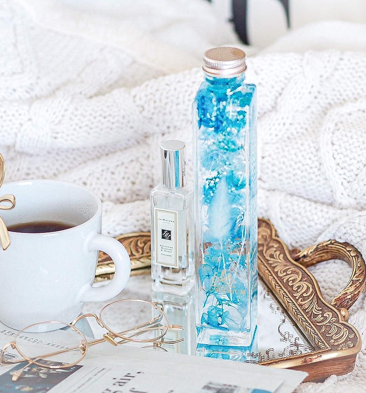 [フラワリウム] 贈り物 誕生日プレゼント 女性 ホワイトデー 母の日 ギフト ハーバリウム 花 (ブルー)