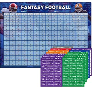2019 Fantasy Football Draft Kit and Player Label Kit | Durable Color Draft Board |14 Team x 20 Round(2019-2020 Season)