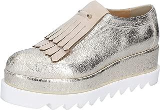 OLGA RUBINI Loafer Flats Womens Silver