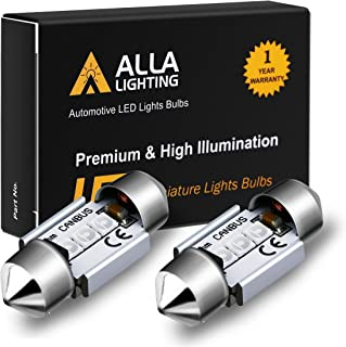 Alla Lighting DE3022 DE3175 LED Bulb Xtremely Super Bright 31mm CAN-BUS Festoon DE3021 3175 6428 3030 SMD Cars Trucks LED Interior Dome Map Trunk Step Courtesy Lights, 10000K Blue