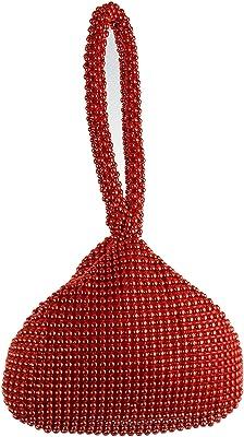 GFM® Damen die kleine weiche körpertasche aus aluminiumperlen. (BP-1) (BP-VLL-11-Rot)